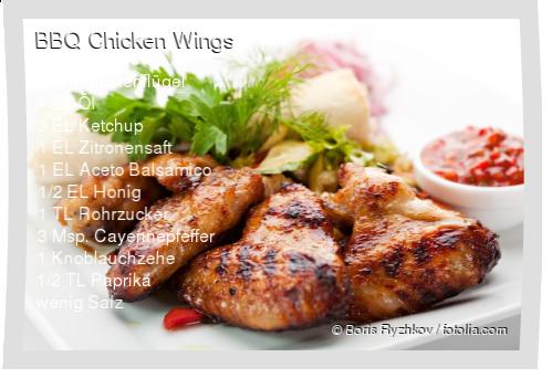 BBQ Chicken Wings Rezept