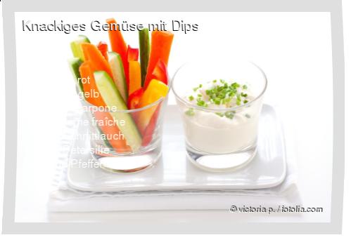 Knackiges Gemüse mit Dips Rezept