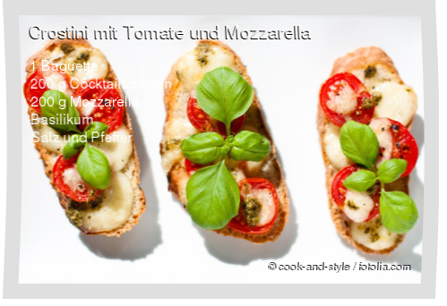 Crostini mit Tomate und Mozzarella Rezept