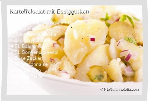 Kartoffelsalat mit Essiggurken Rezept