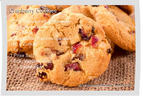 Cranberry Cookies Rezept