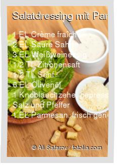 Salatdressing mit Parmesan Rezept